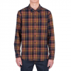 Volcom Shefield Long Sleeve Flannel Navy Lg
