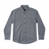 RVCA Service Long Sleeve Shirt Smoke Xl