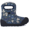 B-Moc Puff Owl Waterproof Boots - Kid's Navy Multi 5