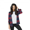 Element Wilson Boyfriend Fit Hooded Flannel - Women's Navy Md