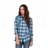 Volcom Desert High Long Sleeve Flannel - Women's Dark Navy Xl