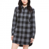Obey Bex Shirt Dress - Women's  Charcoal Multi Lg