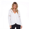 Volcom Pinned Down Long Sleeve Top - Women's White Lg