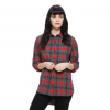 Obey Montague Button-Down - Women's  Black / Red Multi Sm