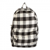 Billabong Hand Over Love Plaid Backpack Vintage Black One Size