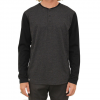 Captain Fin Lace Out LS Knit Charcoal Heather Grey Md