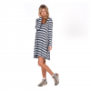 Volcom Lived In Long Sleeve Dress - Women's Dark Navy Lg