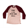 Obey Long Live Rock & Roll Raglan Light Pink / Port Royale Lg