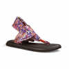 Sanuk Yoga Sling 2 Prints Sandals - Women's Spiced Coral Rain 7