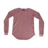 Obey Thermal Raglan Dusty Taupe Lg