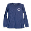 Murdey Surfboards M Circle Logo L/S  Heather/navy Lg