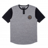 Brixton Legion S/S Henley  Heather Grey/black Md
