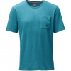 The North Face Short Sleeve Crag Crew Baja Blue Heather Lg