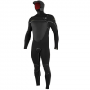 O'Neill Psycho Tech 5.5/4+MM Chest Zip Full W/Hood Wetsuit Black/black