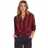 Billabong Cozy Down Plaid Button Down Shirt - Women's Garnet Lg