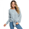Roxy After Sunrise Long Sleeve Top - Women's Blue Mirage Heather Lg