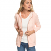 Roxy Trippin Zip-Up Hoodie - Women's Salmon Heather Lg