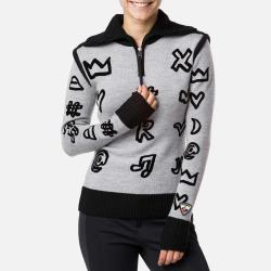 JCC Women's Flock Drawi 1/2 Zip Sweater