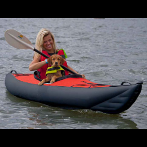 Innova Swing I Kayak - Inflatable Single Kayak in Red / Black