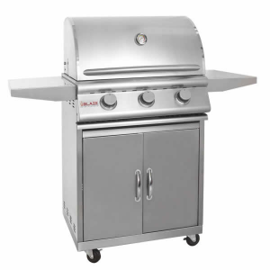 Blaze 25 Inch 3 Burner Built In Natural Gas Grill with Cart