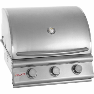 Blaze 25 Inch 3 Burner Built In Propane Gas Grill