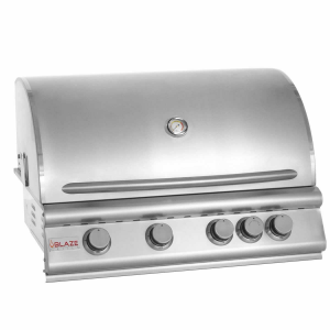 Blaze 32 Inch 4 Burner Built In Natural Gas Grill With Rear Infrared Burner