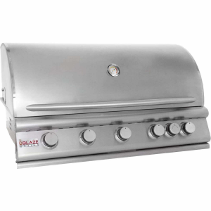 Blaze 40 Inch 5 Burner Built In Natural Gas Grill With Rear Infrared Burner