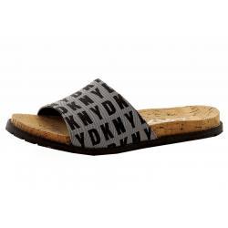 Donna Karan DKNY Women's Slide Logo Fashion Sandals Shoes - Black - 6.5 B(M) US