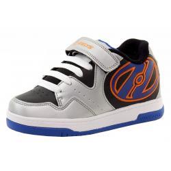 Heelys Boy's Hyper Skate Sneakers Shoes - Silver - 8 M US Big Kid