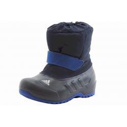 Adidas Boy's Winterfun Boy Primaloft K Snow Boots Shoes - Blue - 3   Little Kid