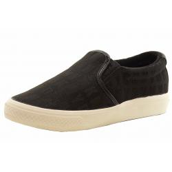 Donna Karan DKNY Women's Beth Fashion Sneakers Shoes - Black Canvas - 7.5