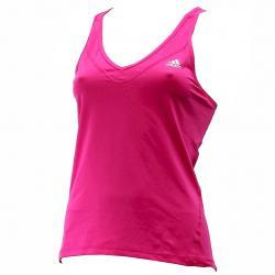 Adidas Women's Techfit Strappy Climalite Training Tank Top Shirt - Pink - Large