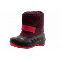 Adidas Girl's Winterfun Girl K Primaloft Snow Boots Shoes - Red - 1   Little Kid