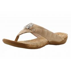 Donna Karan DKNY Women's Bianca Fashion Flip Flops Sandals Shoes - Buff Quilted - 7 B(M) US