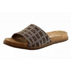 Donna Karan DKNY Women's Slide Logo Fashion Sandals Shoes - Brown - 6 B(M) US
