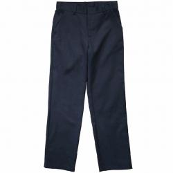 French Toast Boy's Relaxed Fit Twill Uniform Pant - Blue - 4