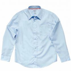French Toast Boy's Long Sleeve Dress Uniform Button Up Shirt - Blue - 20 Husky