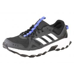 Adidas Men's Rockadia Trail Running Sneakers Shoes - Carbon/White/Hi Res Blue - 8 D(M) US