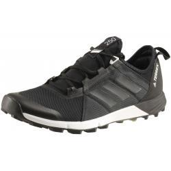 Adidas Men's Terrex Agravic Speed Trail Running Sneakers Shoes - Black/Black/White - 9.5 D(M) US