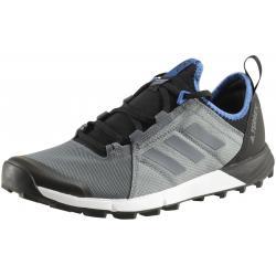 Adidas Men's Terrex Agravic Speed Trail Running Sneakers Shoes - Vista Grey/Vista Grey/Core Blue - 8.5 D(M) US