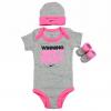Nike Infant Girl s Winning Ain t Easy 3 Piece Set   x28 Hat  OneZ   Booties  x29