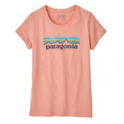 Patagonia Pastel P-6 Logo Organic T-Shirt - Girls' M Flamingo Pink