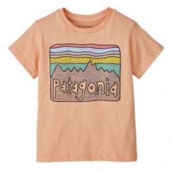 Patagonia Fitz Roy Skies Organic T-Shirt - Girls' 5T Cowry Peach