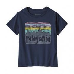 Patagonia Fitz Roy Skies Organic T-Shirt - Girls' 12M New Navy