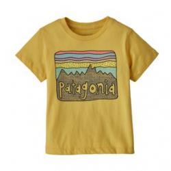 Patagonia Fitz Roy Skies Organic T-Shirt - Girls' 12M Surfboard Yellow
