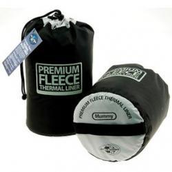 Sea To Summit Toaster Sleeping Bag Fleece Liner Regular Black W/HOOD