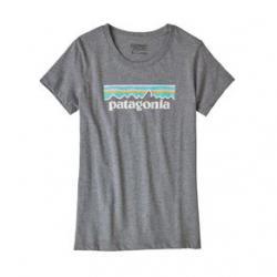 Patagonia Pastel P-6 Logo Organic T-Shirt - Girls' S Gravel Heather