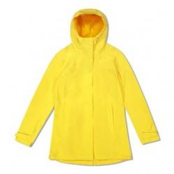 Woods Monolith Water-resistant 2-layer Mid-length Jacket - Women's M Yellow
