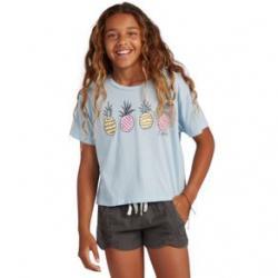 Billabong Pineapple Party T-shirt - Girls' L Sky Blue