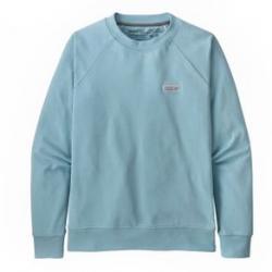 Patagonia Pastel P-6 Label Organic Crew Sweatshirt - Women's S Fin Blue
